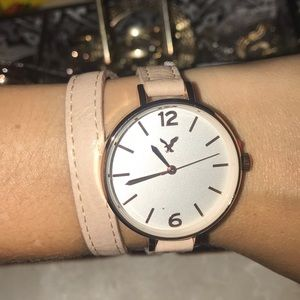 American Eagle wrap rose gold watch